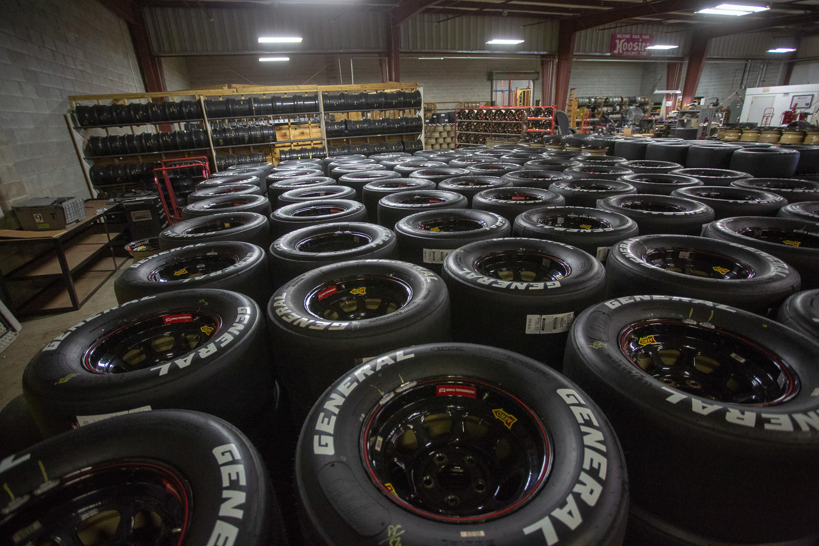 Since late 2016, Hoosier has been owned by Continental Tire, who purchased it from the original founder, Bob Newton. Continental also owns General, which is the official tire for the ARCA series. Rather than mount all the tires at the racetrack for that series, these are actually pre-mounted at their headquarters ahead of each event. That means Hoosier (rather than the teams) also own all the wheels.