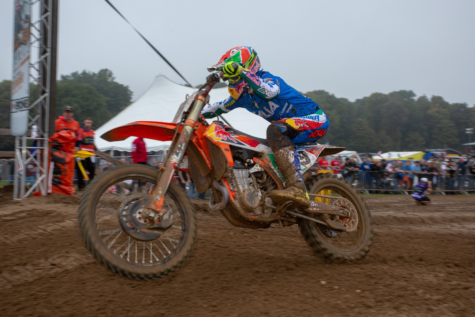 Antonio Cairoli took the win in this one, giving the Italian team an early headstart, as they went on to finish second for the day.
