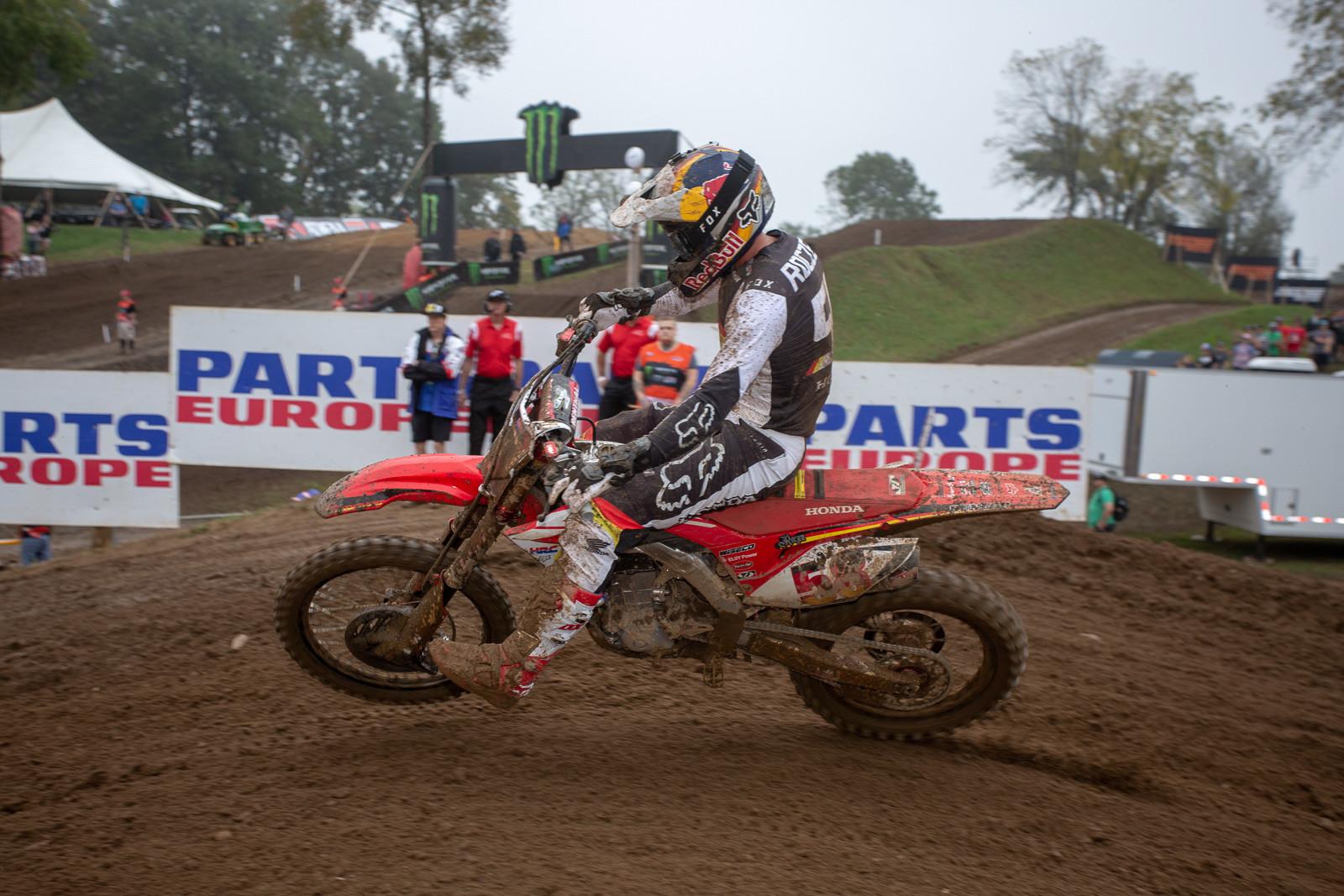 Ken Roczen was a strong second among the MXGP class.