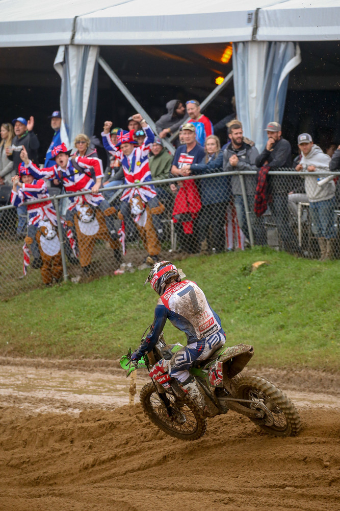 The British fans were cheering on Tommy Searle in the final moto. They finished fifth on the weekend.