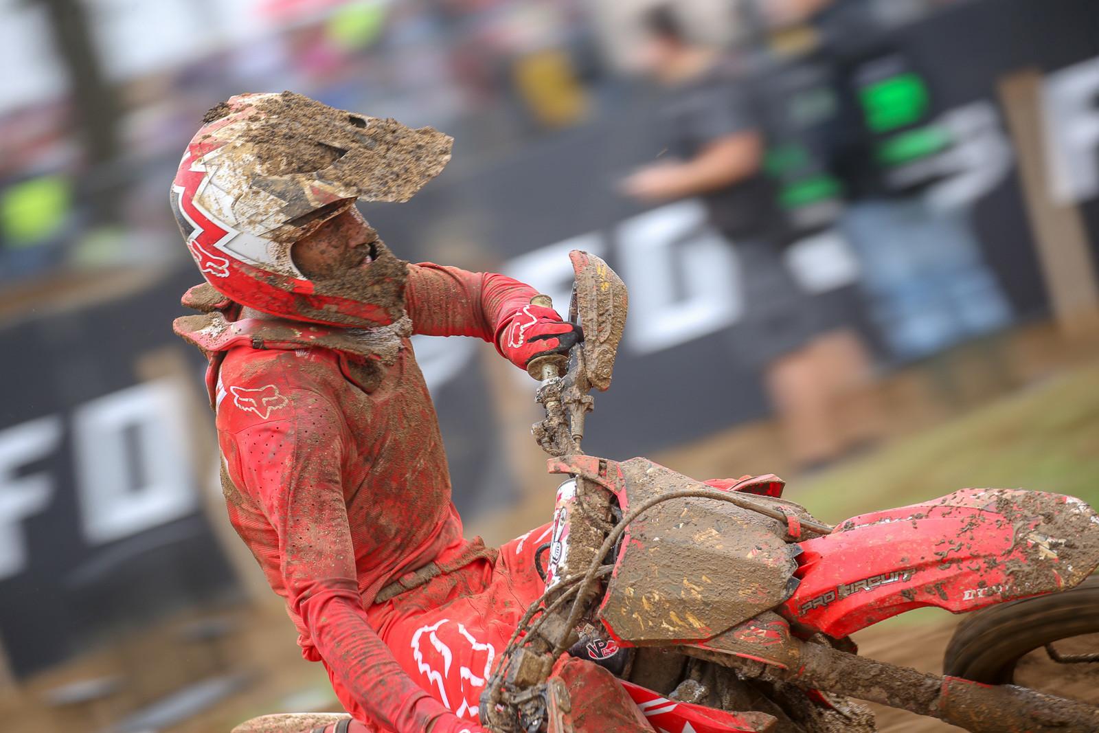 Colton Facciotti grabbed a top ten finish among the MXGP competitors in moto one.