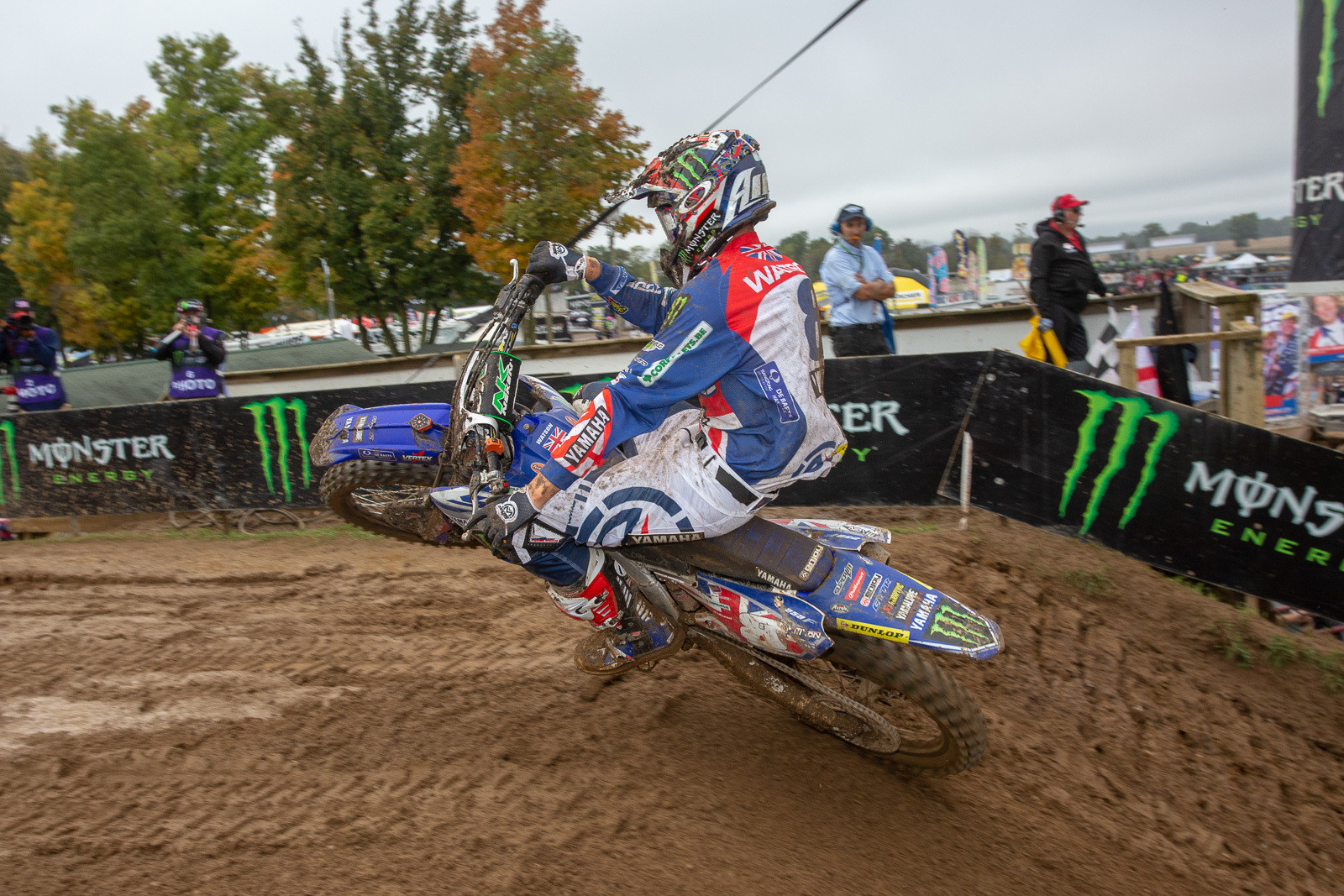 MX2 bikes were 2-3-4 in moto two, with Great Britain's Ben Watson at the tail end of that trio.