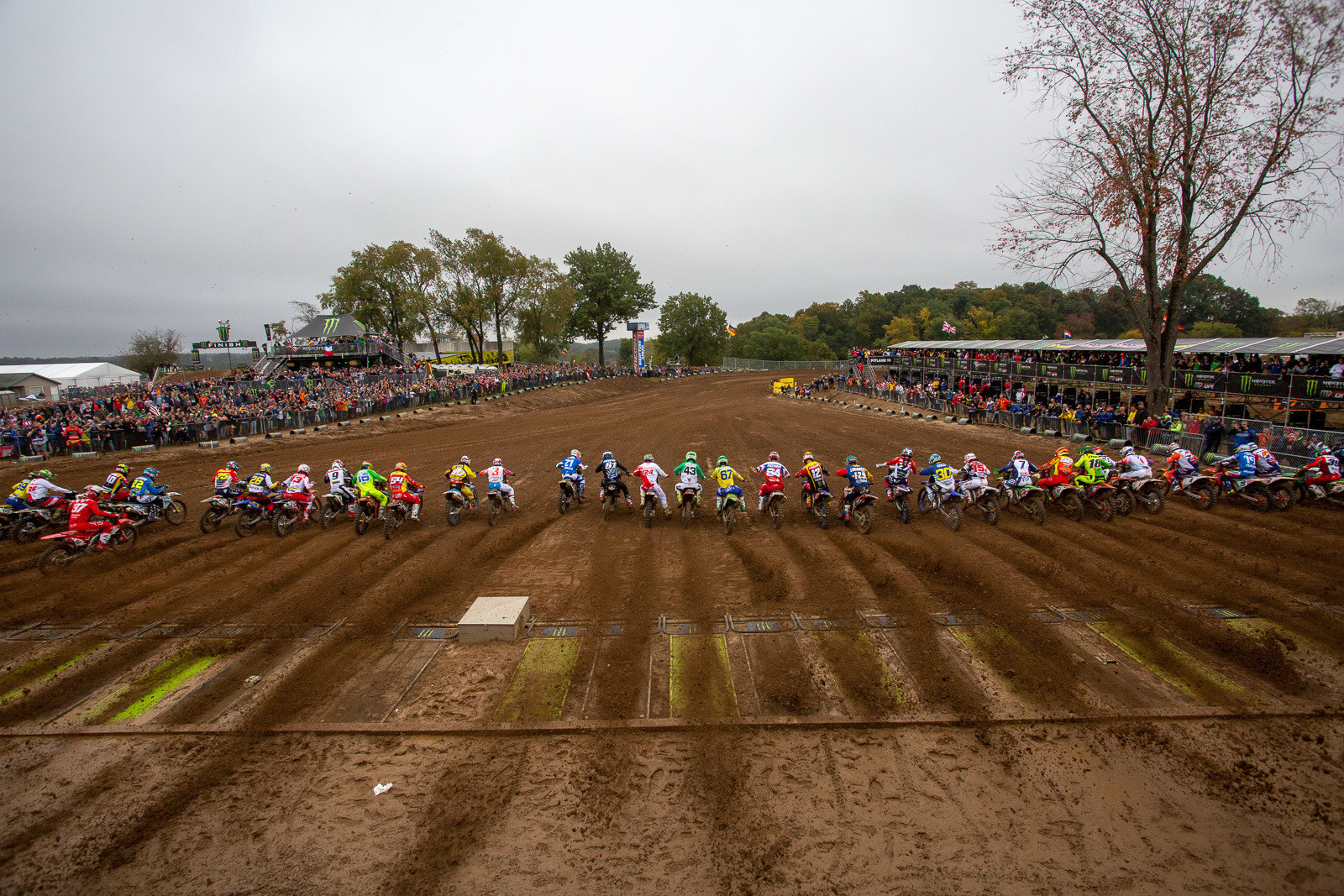 As the riders launched out of the gate for the final moto of MXGP/Open action, it was Glenn Coldenhoff grabbing another great start and moving to the front of the pack.