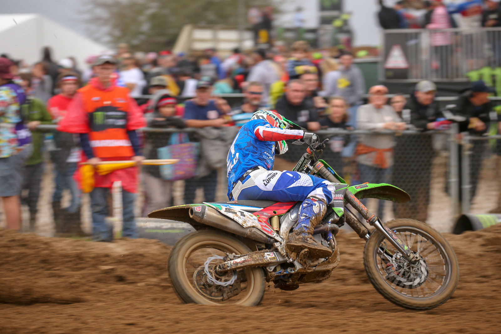 Alessandro Lupino was fifth among all the riders in the final moto, finishing behind his Italian teammate, Antonio Cairoli, and helping propel them to a podium finish.