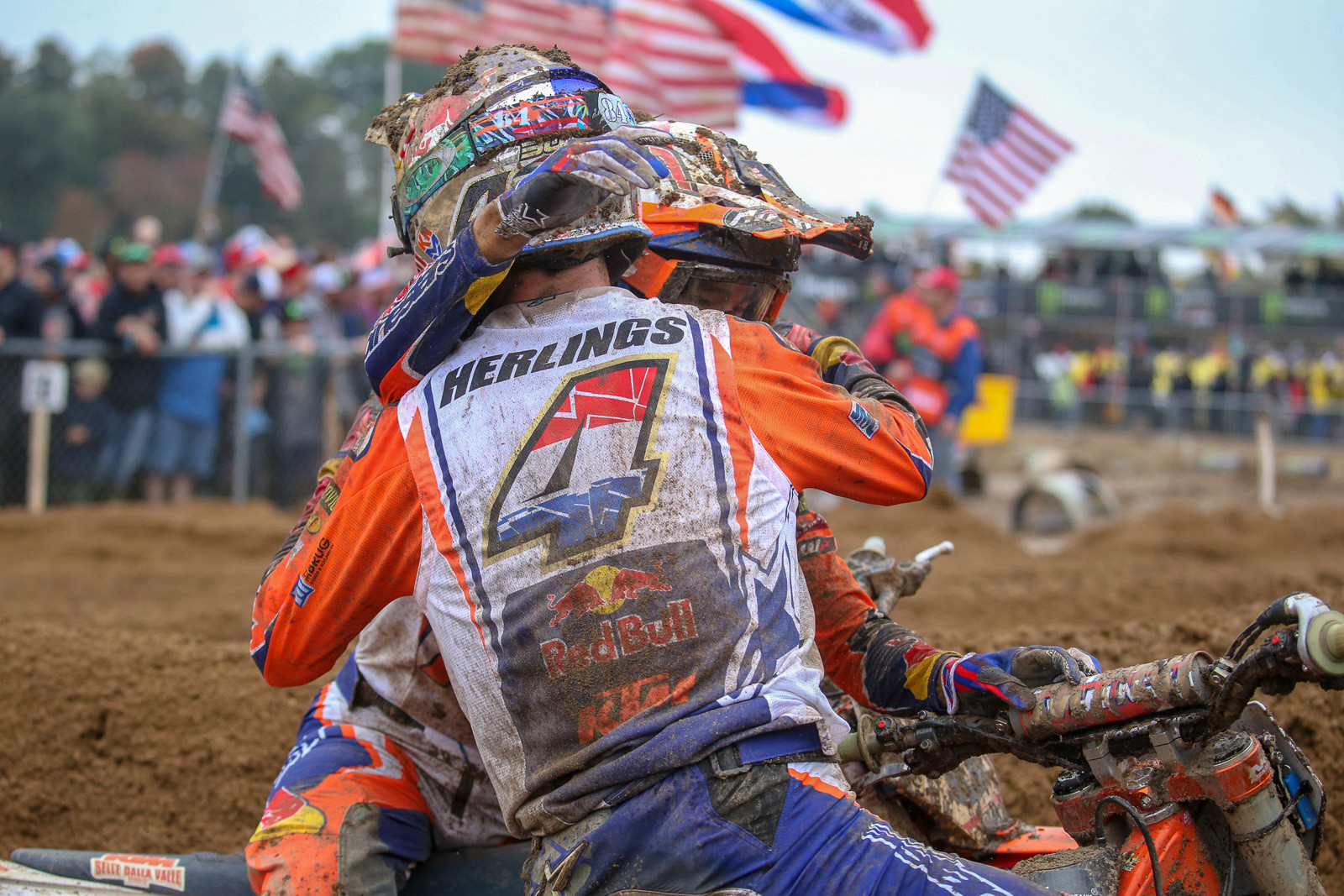 Glenn Coldenhoff and Jeffrey Herlings finished 1-2 in the final moto, with both of them taking the overall win in their classes. Minus the eye injury to Calvin Vlanderen, they might have been the champs this time around.