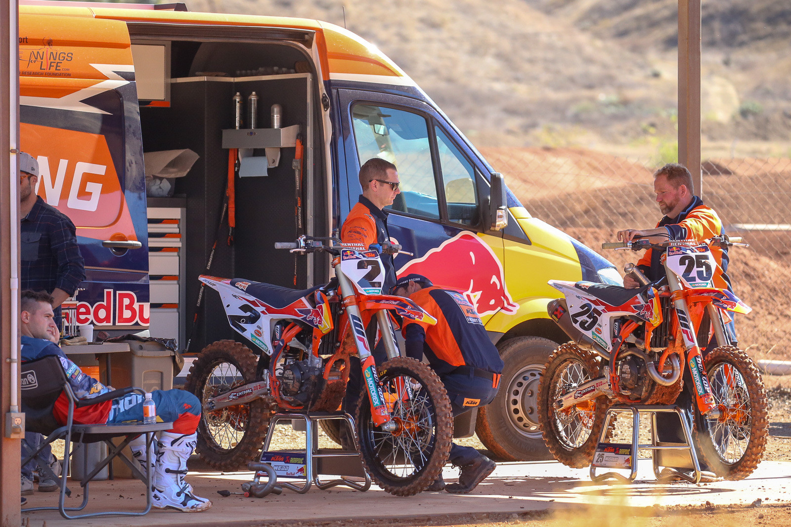 It's good to see the Red Bull KTM back at full strength. Only having one rider under the tent for much of the year was a bummer for the orange crew.