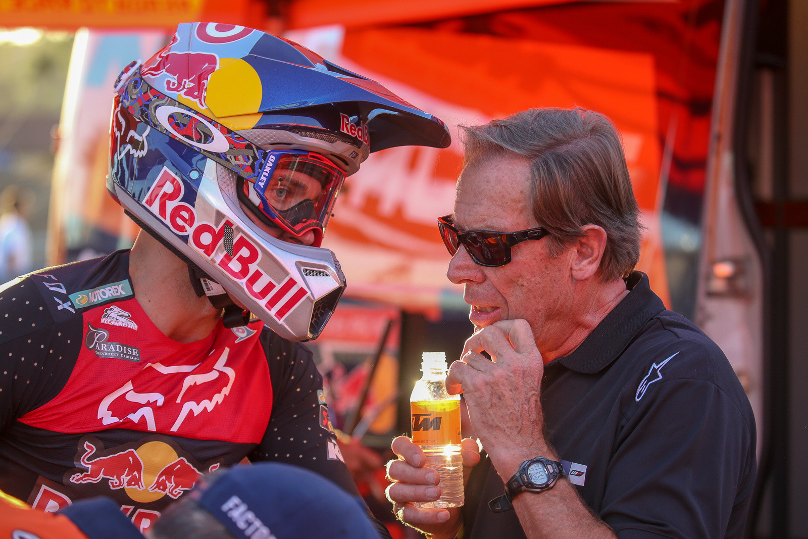 It was fun to see Ryan Dungey and Roger DeCoster paired up again, and they were as serious as ever about trying to take the win here.