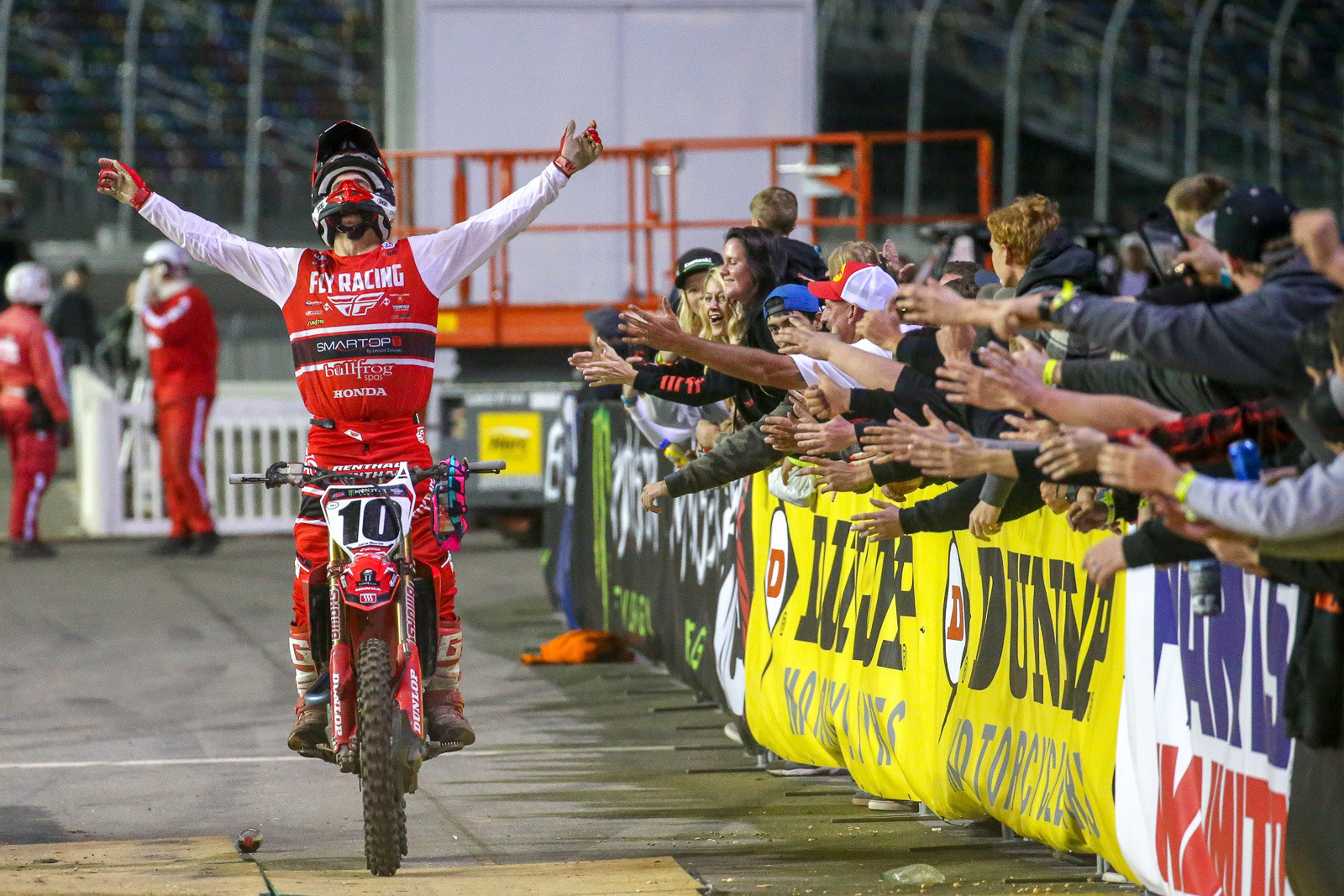 Justin Brayton was ecstatic after his Daytona win...and he also wrapped up another Australian SX title.