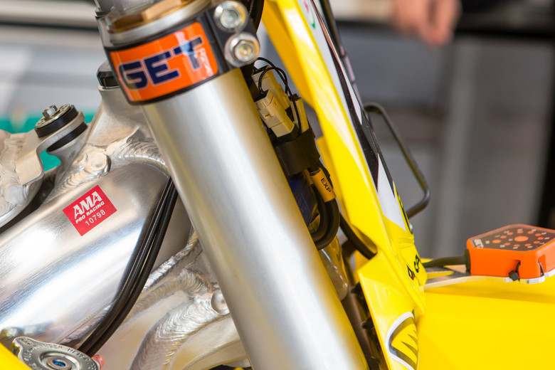We don't get very many shots of ECUs on race bikes because, for one they are tucked away inside the bike and two, when we too close to the electronics is when the mechanics start pushing us back.