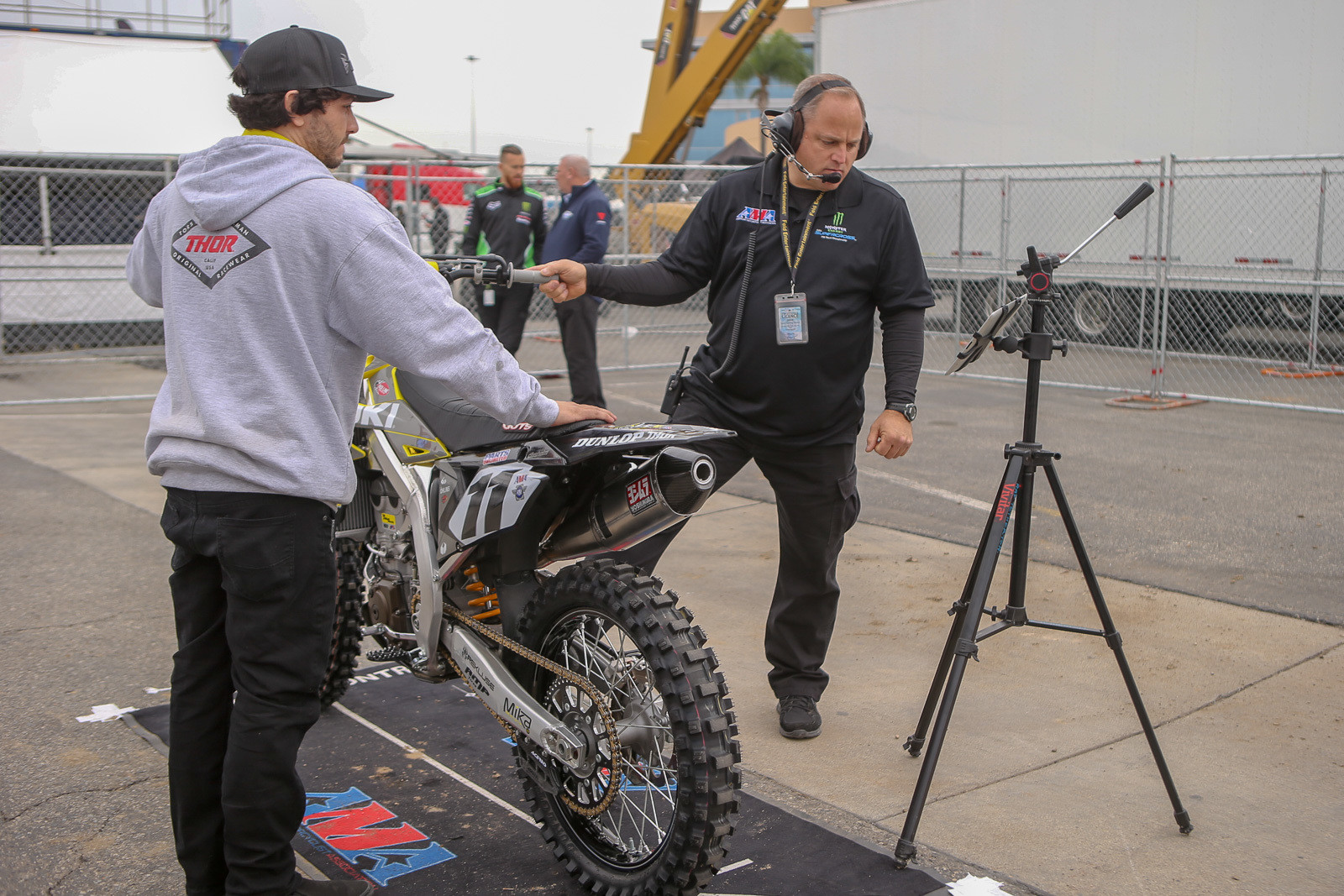 What's old? Some people struggle to make it through sound testing. We hear the H.E.P. Suzuki guys bought some Yoshimura pipes after Friday to ensure they could make it in.