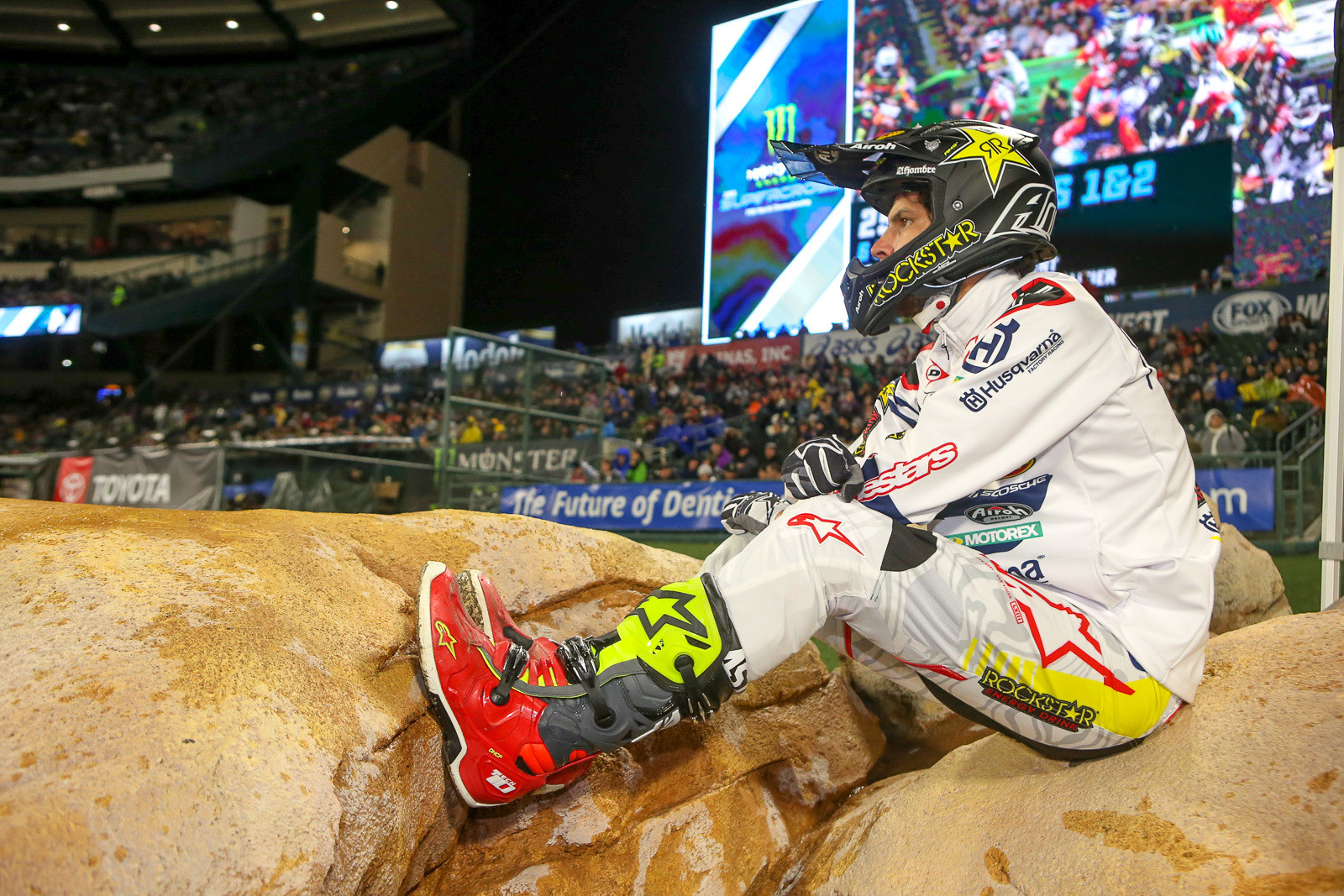 We're not sure what's up with Jason Anderson, but he sure didn't appear to be his usual speedy self at round one. We are sure that a 14th is not where the defending series champ wanted to finish in round one.