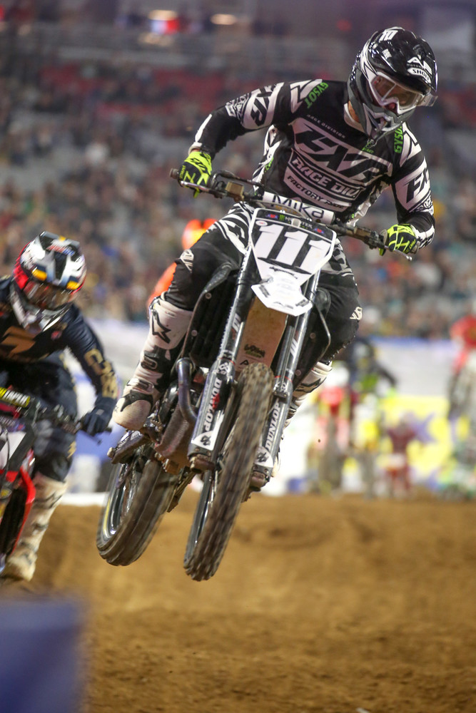 Chris Blose is another wily vet of the AX wars, though he's also spent plenty of time on the SX side, including a bunch of time in the 450 class. We caught up with him after the night's action to see what he's been up to...including his recovery from a big crash at the Arenacross finals last year.
