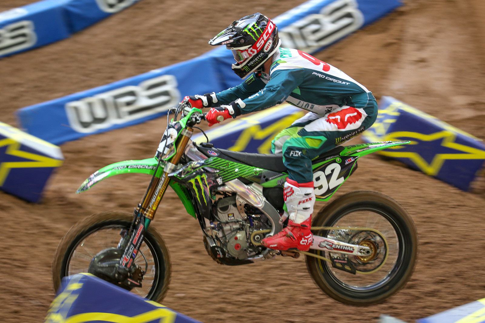 Adam Cianciarulo runs braces on both wrist.