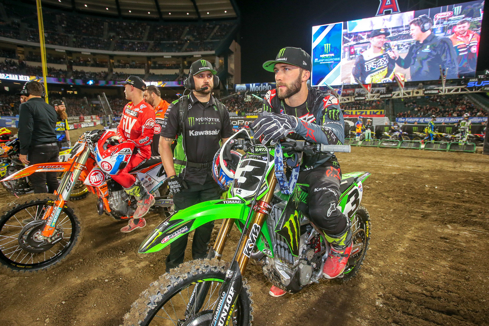 Round three of the 2019 Monster Energy Supercross series at Angel Stadium featured the first Triple Crown event of the year. It's weird to think that Eli Tomac hadn't won a race yet, but with three main events on top, his odds were good. While he hadn't grabbed a checkered flag yet, he's still in a much better place than he was a year ago.