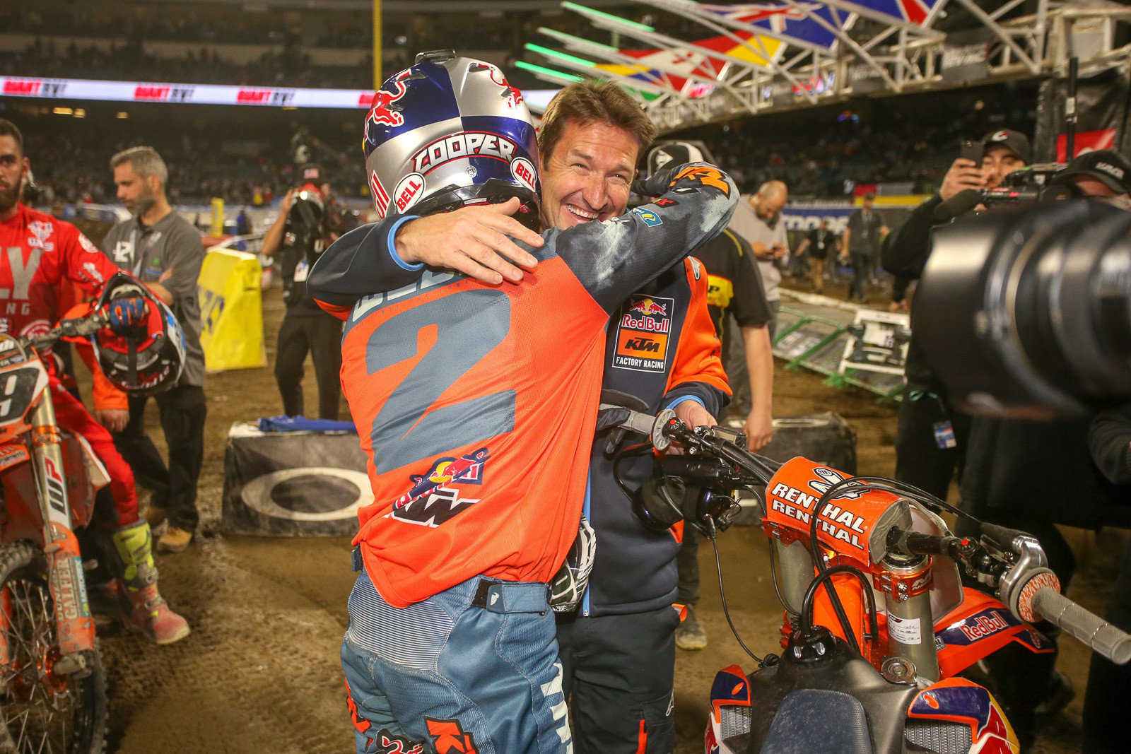 Cooper Webb and KTM Team Manager, Ian Harrison.