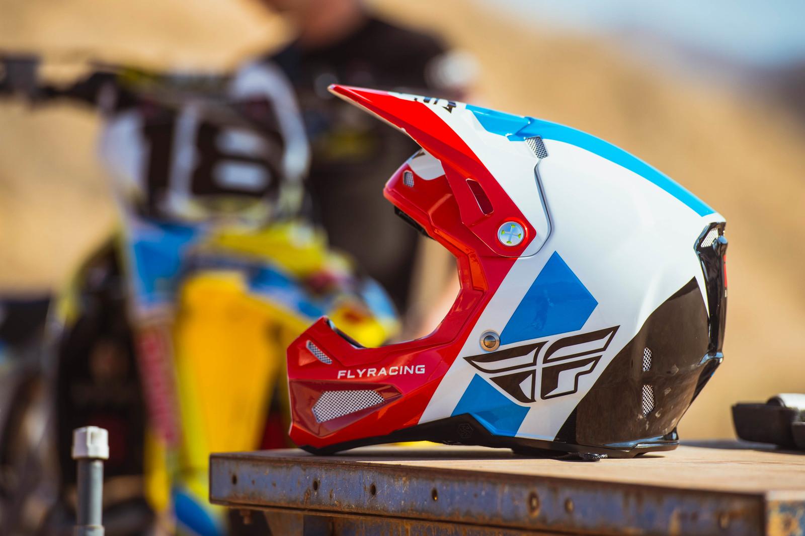 Formula Helmet Red/White/Blue colorway