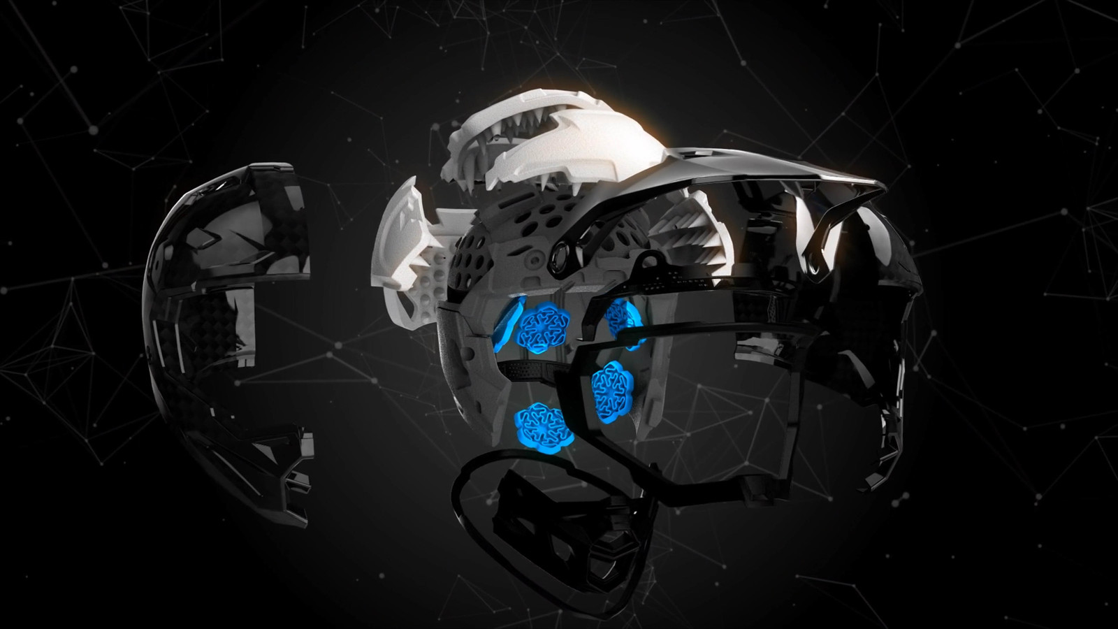 Multiple layers and technology inside the Formula Helmet