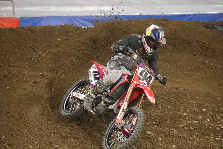 Ken Roczen was a strong second and now holds the red plate once again.