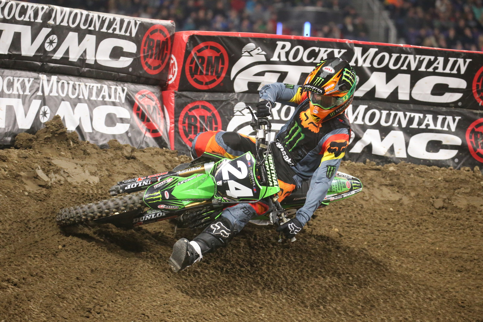 Austin Forkner had an easy time with the second 250 heat.