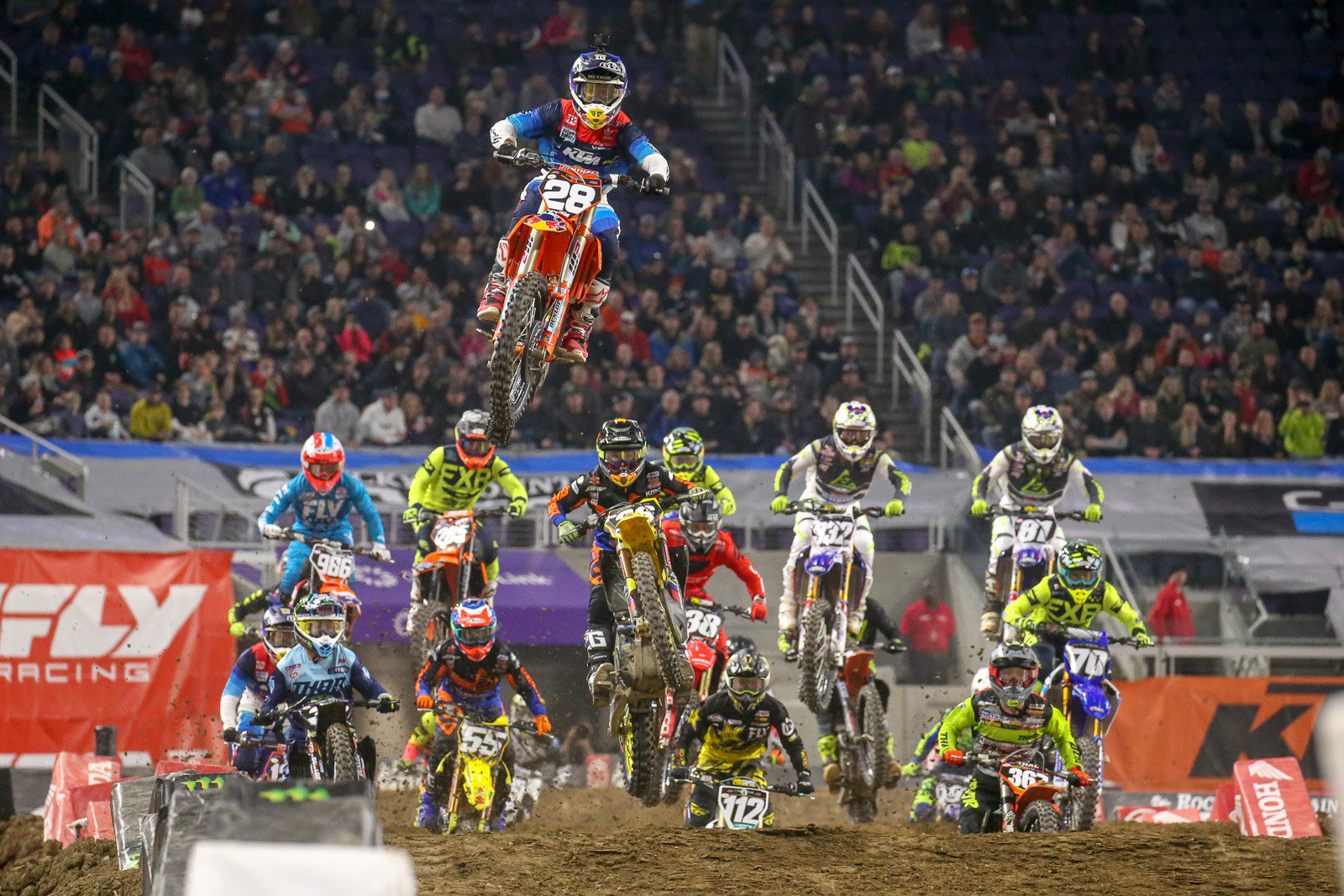 It's always good to get a new injection of energy after a few rounds into the season when the 250 East guys take to the track. Jordon Smith scored the first heat win of their season.