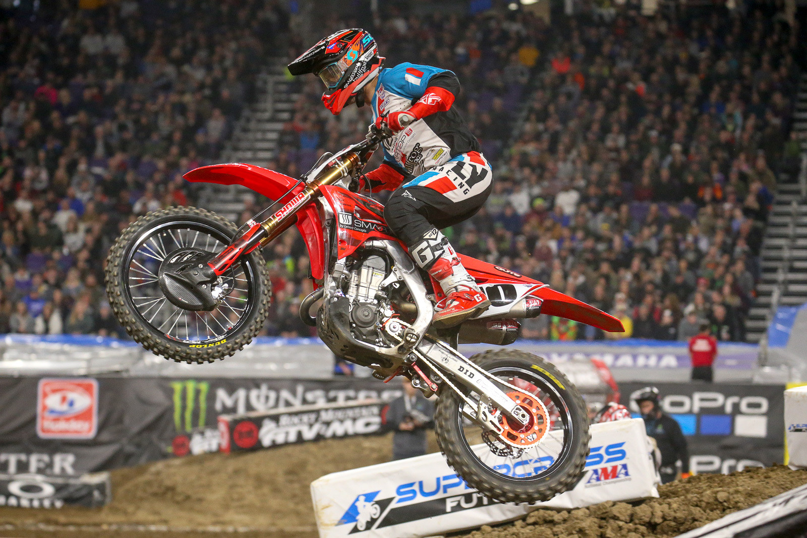 Justin Brayton cleaned up in the second 450 heat. He went nearly wire-to-wire on this one, after taking over the lead from Justin Bogle on the second lap.