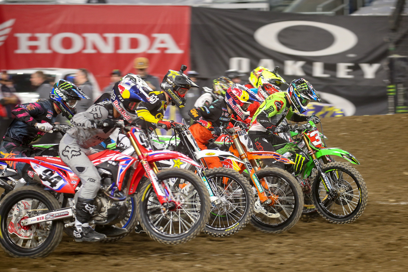 Eli Tomac's heat race start was spot-on. The main event start? Not as much.