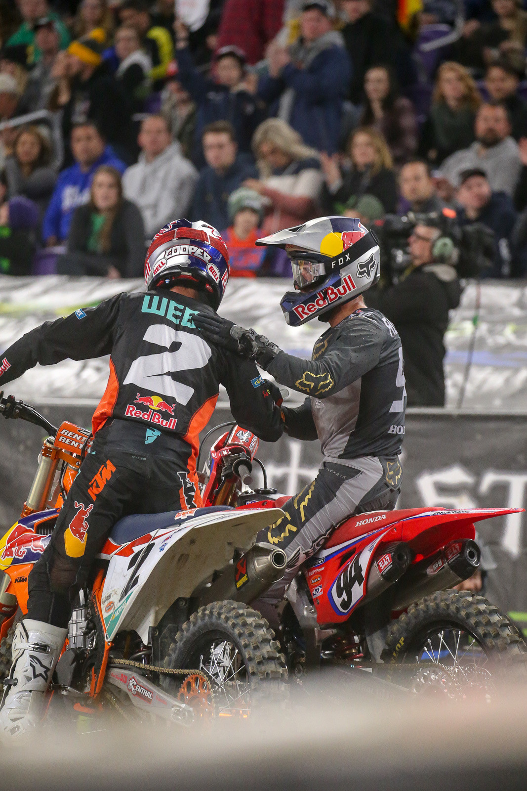 Cooper Webb and Ken Roczen. Given their history on the track (and off), who thought we'd ever see this?