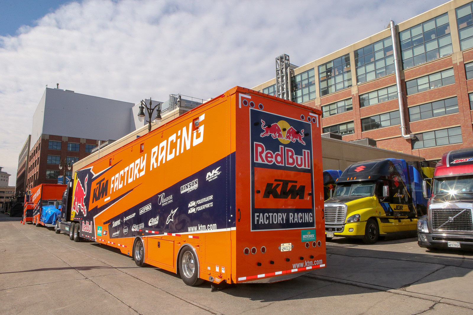 The good news? There's little building or teardown time for the teams. Lots of these trucks will be on the road tonight.
