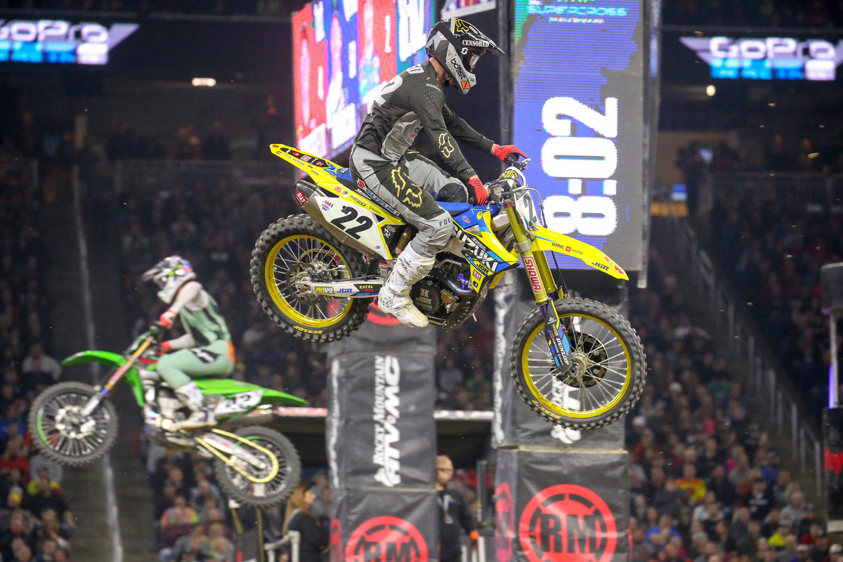 Chad Reed went 3-5-7 for the night, ending up in third overall.