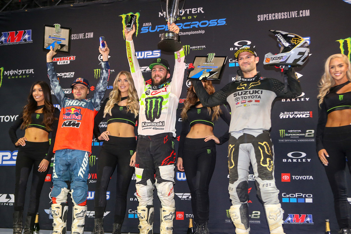 The top three here were Eli Tomac, Cooper Webb, and Chad Reed. Think about this for a second...that was Reedy's 132nd top three.