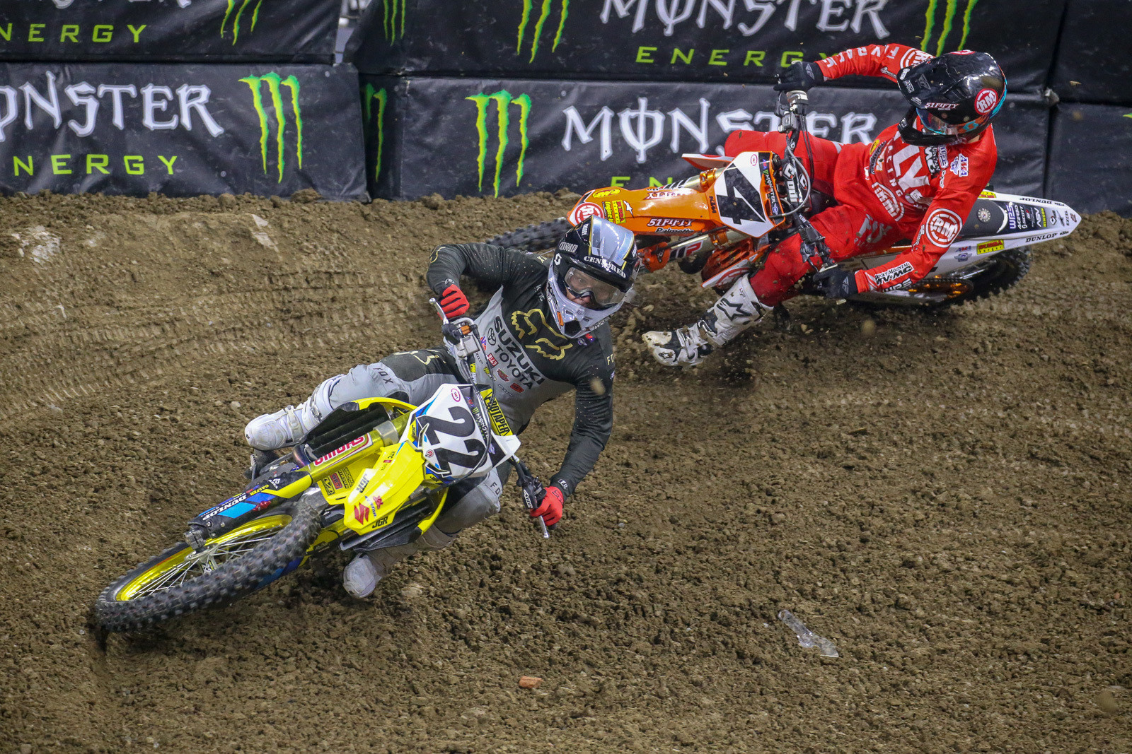 The crowd perked up noticeably when Chad Reed went by Blake Baggett into the second spot.