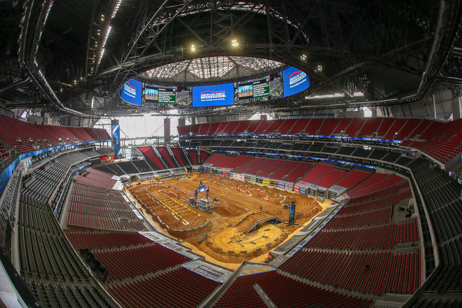 The Mercedes Benz Stadium in Atlanta is pretty amazing.