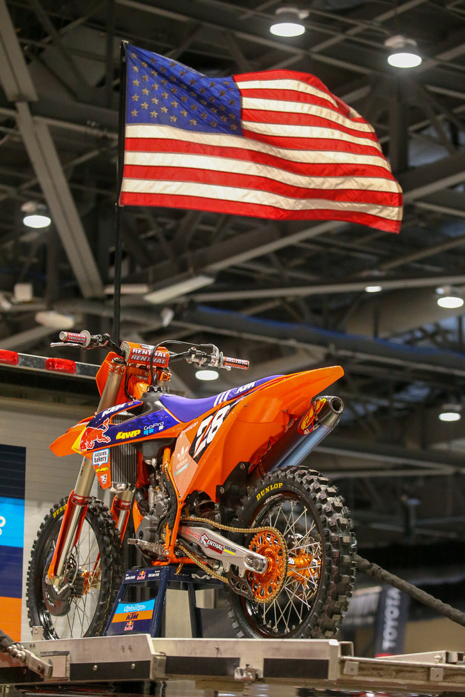 The flag's always flying over at the Troy Lee Designs/Red Bull/KTM rig. The other truck drivers are going to have to step up their game.