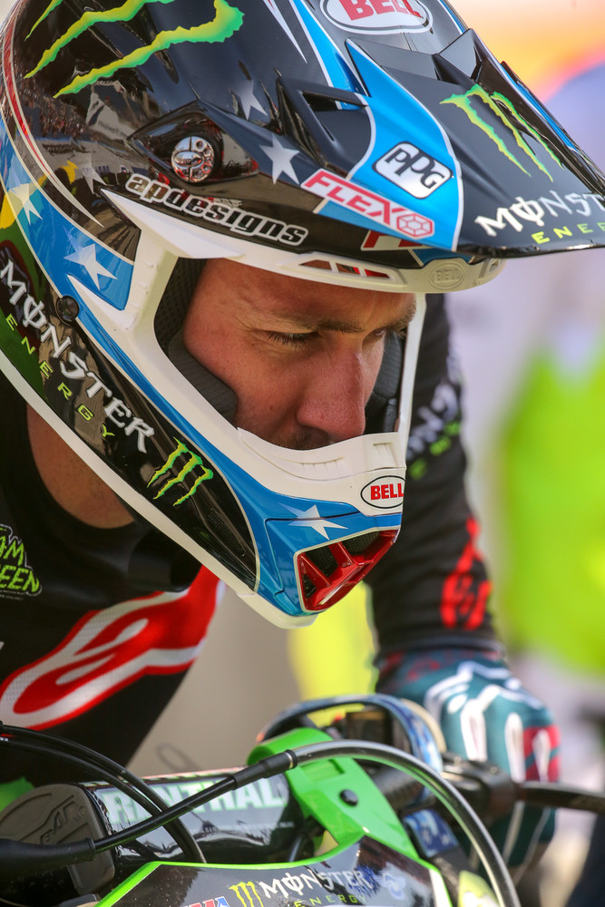 Eli Tomac in full concentration mode.