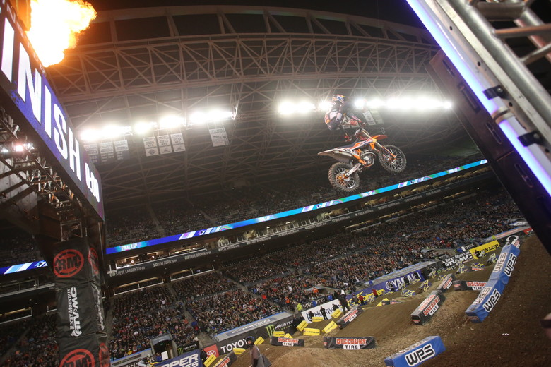 Marvin Musquin took the win.