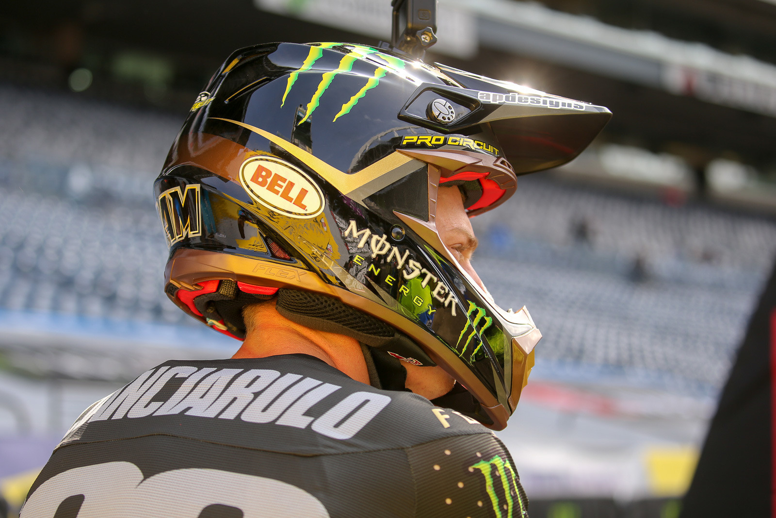 The Monster Energy Pro Circuit Kawasaki guys also had new helmets to match their gear this weekend.