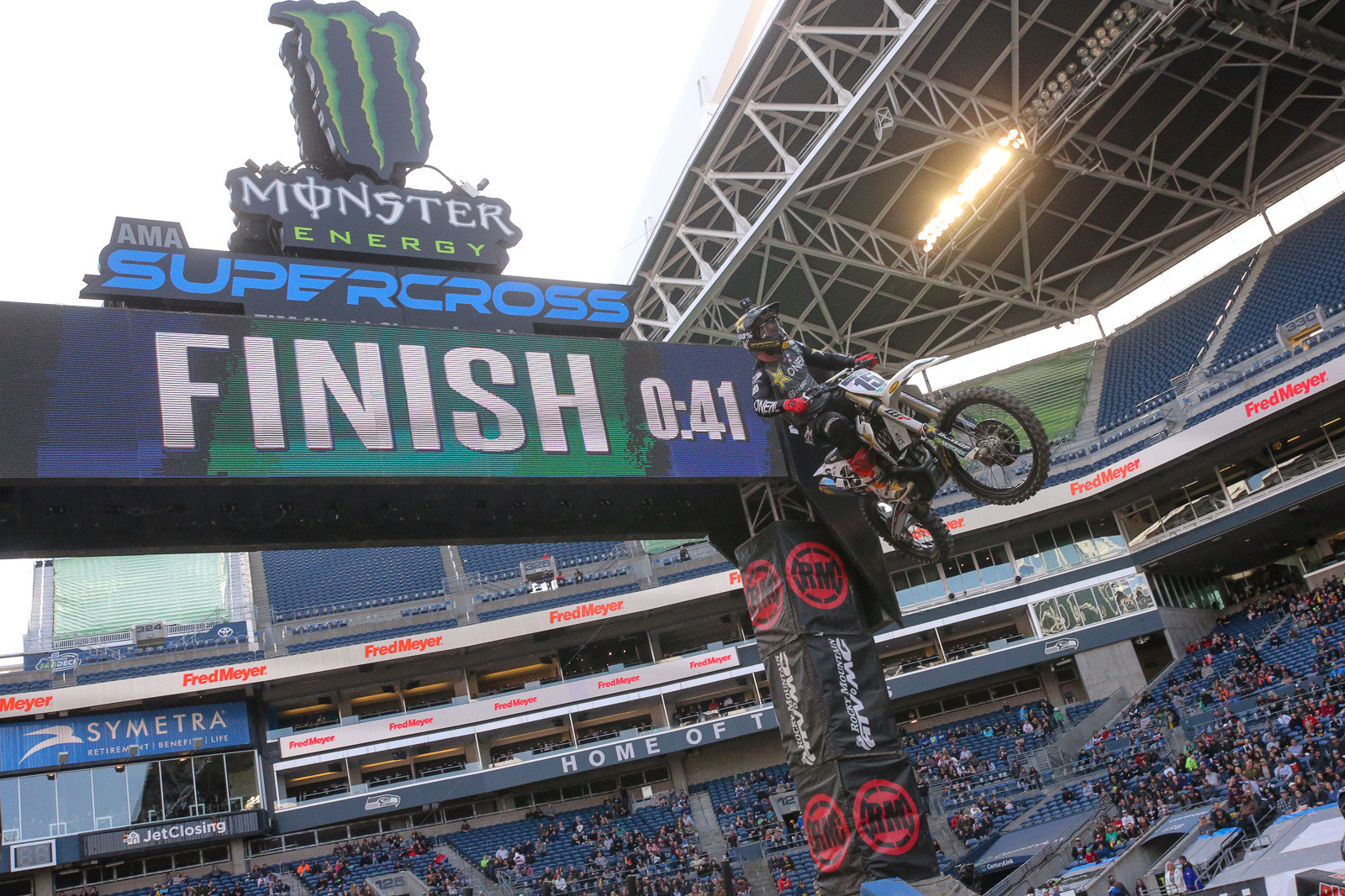 Top qualifiers in the 450 class? Dean Wilson grabbed the top spot...