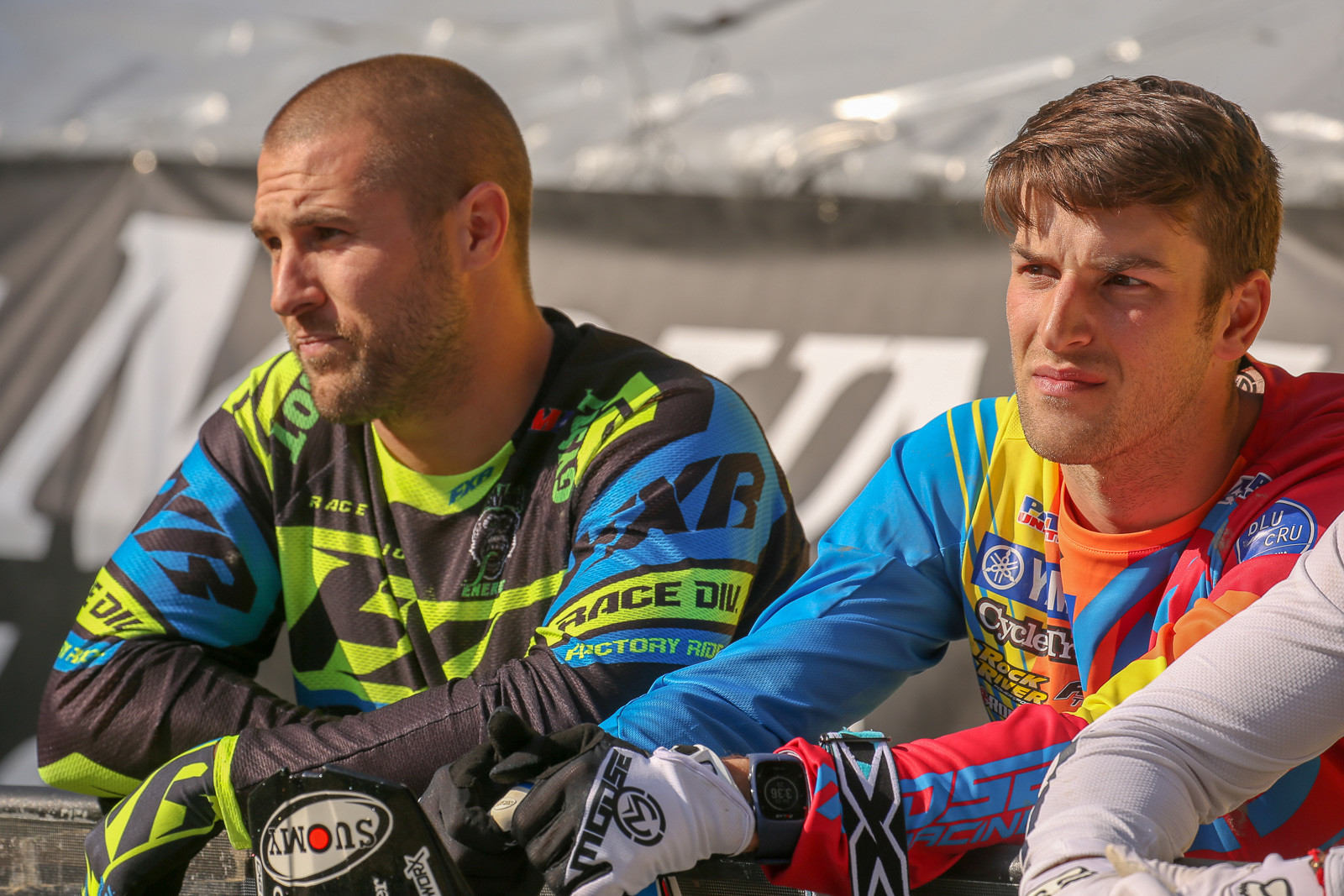 Yeah, they've battled it out on Arenacross tracks around the country, but Chris Blose and Jacob Hayes are still friendly.