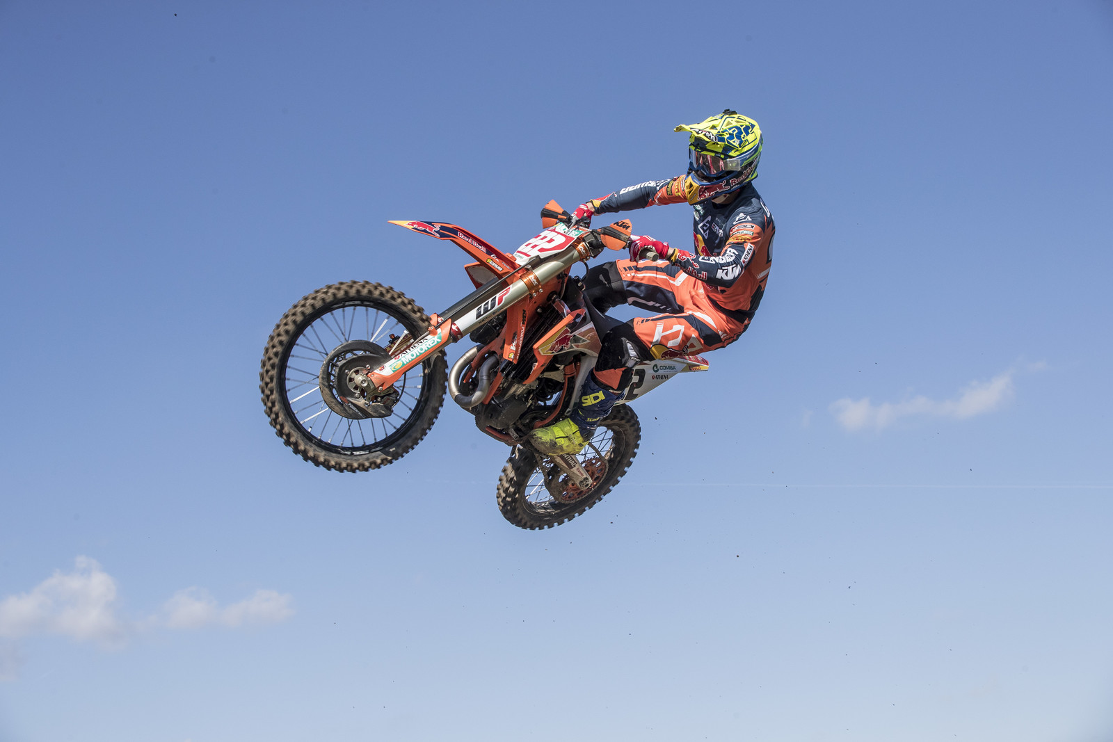 Red Bull KTM's Tony Cairoli pulled down a 1 - 2 to get the overall victory. Two holeshots and mistake-free riding was his game.