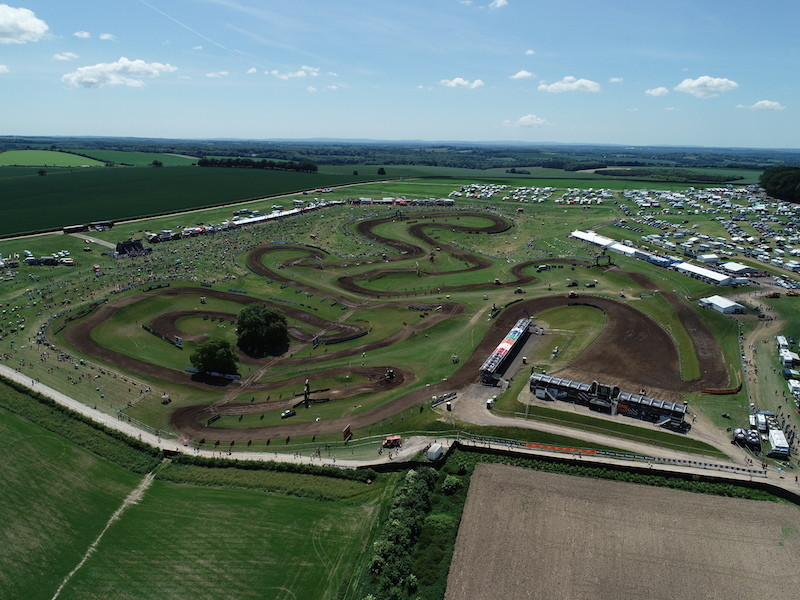 The Matterley Basin Motocross Circuit is tucked away in the rolling English countryside.