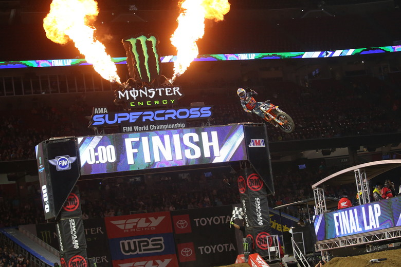 Marvin Musquin was the winner of the final Main Event of the night.