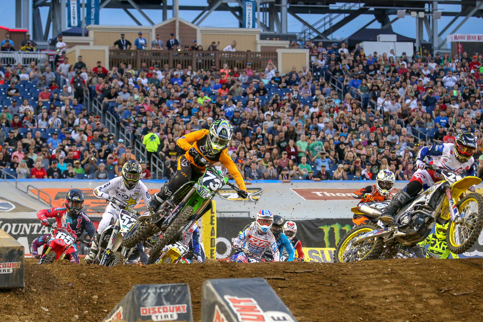 Heat winners? Martin Davalos grabbed the first 250 heat.