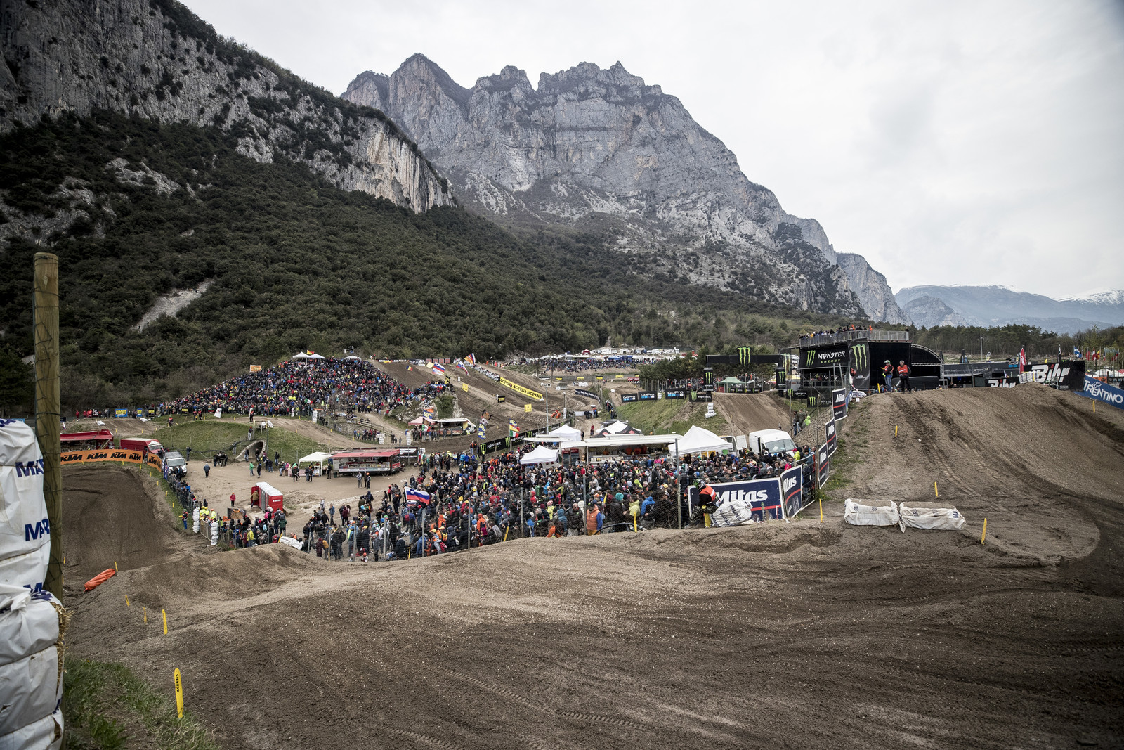 The Trentino track is one of the most picturesque on the entire circuit. Tucked in the southern section of the Dolomites, the track has natural elevation, but it also gets super rough with hard edges and dry sections.