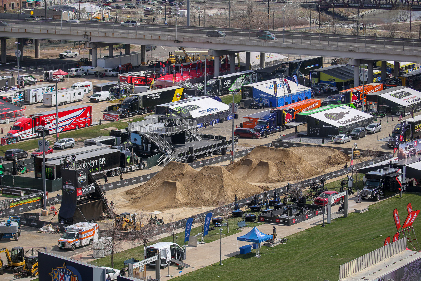 The Toyota BMX Triple Challenge was set to go off in the pits.