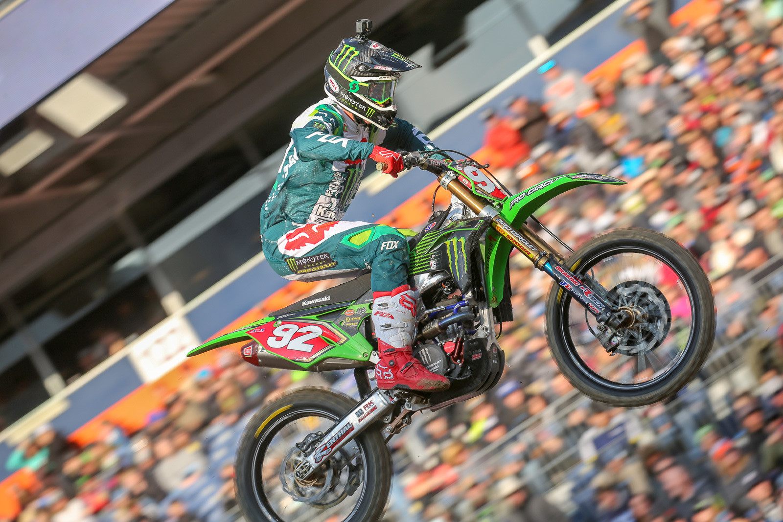 Adam Cianciarulo had an easy time in the second 250 heat.