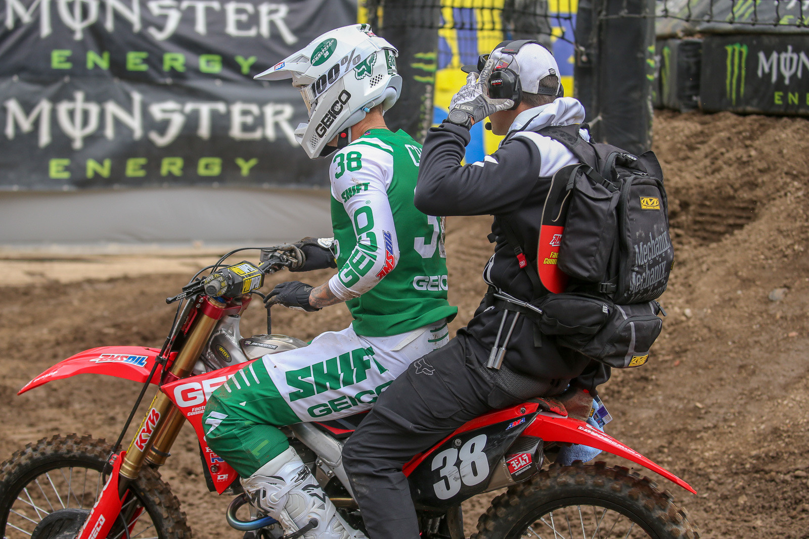 Ouch. Christian Craig exited the final 250 qualifying session early after rounding off the corners of his GEICO Honda.