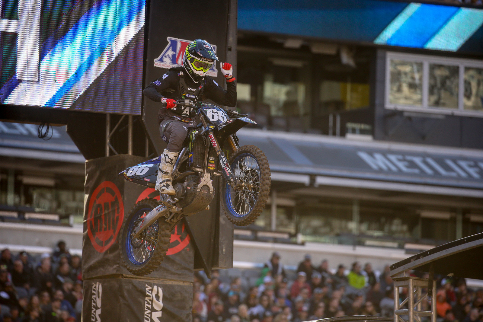 Mitchell Oldenburg had a great night in East Rutherford, with a win in his heat race, and a (spoiler alert) second in the 250 main. Check out the post-race chat with him by clicking the audio below.