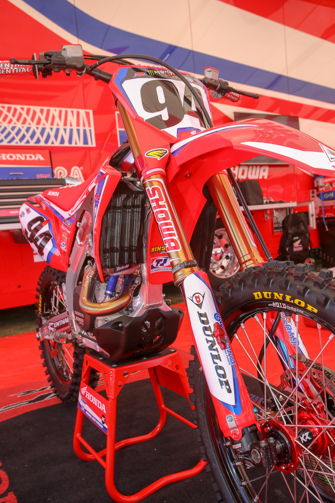 This is new. The Team Honda HRC crew has switched over to the Works Connection Pro Launch start devices on their factory bikes.