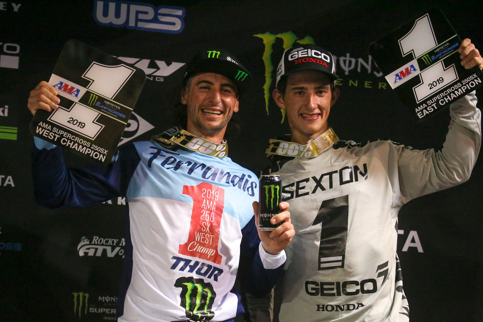 Dylan Ferrandis and Chase Sexton.