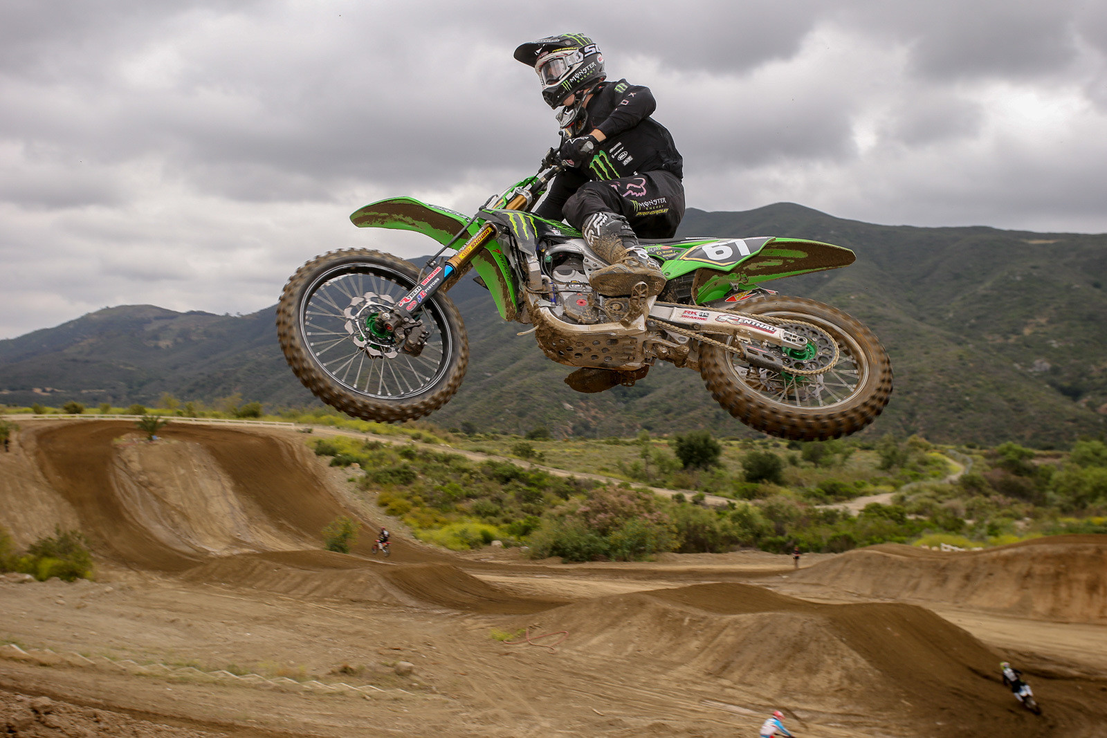 Garrett Marchbanks was on hand to get ready for his sophomore season. As usual, his coach, Ivan Tedesco, was also doing some testing for the Monster Energy Pro Circuit Kawasaki squad.